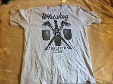 Whiskey Militia Men's Grey Axe Barrel Short Sleeve T-Shirt 2XL XXL NWT