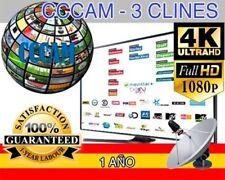 CCCAM 2 CLINES MUY ESTABLES 1 AÑO. Entrega inmediata. Prueba gratuita 48h