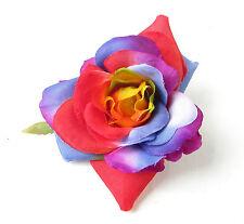Arc-en-ciel rose fleur pince cheveux fascinateur rockabilly années 1950 Pride