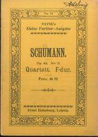 Taschenpartitur: SCHUMANN - Quartett F-dur Op. 41 No. 2