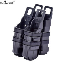 Tactical Fast Mag Pouch Holster Magazine Set 2 in 1 Molle Strike System Black
