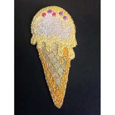 Large Glitter Ice Cream Sprinkles Iron On Craft Motif Stylish Patch