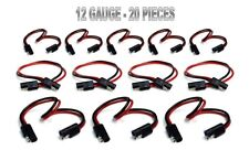 """20 Pieces 12 Gauge 12"""" Quick Disconnect Power Cable Wire Harness"""