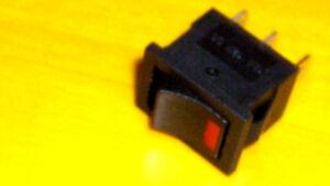 On Off Led  Illuminated Rocker Switch RED 12v  6A 3A  SPST