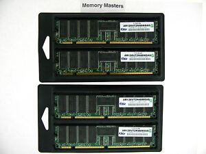 AR128V72N4SMGAS 4GB 4X1GB PC133 ECC Registered CL3 168-Pin DIMM SERVER Memory