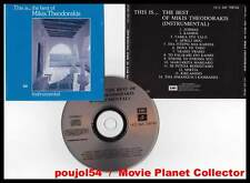 "MIKIS THEODORAKIS ""This Is... The Best Of Instrumental"" (CD BOF/OST) 1989"
