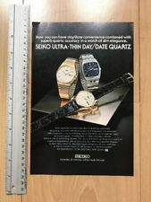 Seiko Ultra Thin Quartz 1977 Advertisement Pub Ad Werbung