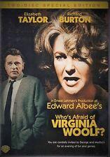 2 DVD Who's Afraid of Virginia Woolf: Elizabeth Taylor Richard Burton Geo Segal