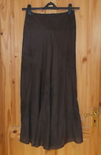 JIGSAW brown floral embroidered long panel riding maxi skirt 8 36 Steampunk