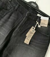 LADIES M&S SIZES 12 OR 14 BLACK MIX STRAIGHT ANKLE GRAZER JEANS FREE POST