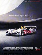 2006 Audi R10 TDI LeMans Race  - Original Advertisement Print Art Car Ad J563