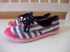 Keds Schuhe Sneaker blau weiß gestreift Stoff Ballerinas maritim pink 33 Sommer