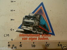 STICKER,DECAL DAF TRUCKS 2500 INTERNATIONALE KLASSE VAN EIGEN BODEM LARGE