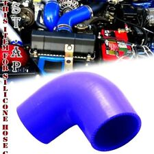 "3"" To 3.25"" Inch 90 Degree Silicone Hose Coupler Reducer Turbo pipe Intake Blue"