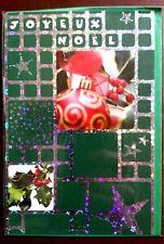 "H4) Carte ""Joyeux Noël"" (verte)  + enveloppe - Neuf"