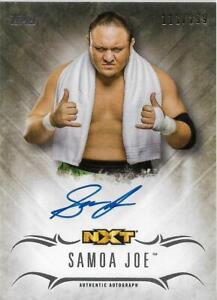 2016 Topps WWE Undisputed Autographs #UASJ Samoa Joe Auto /299