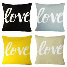 "LOVE Home Decor Pillow COVER Sofa Gray Black Yellow Beige Cushion Case 17x17"" US"