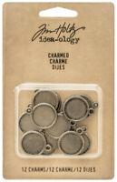 Tim Holtz Idea-ology Charmed Metal Cabochon Base Decorative Element Ideaology