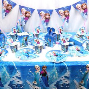 Disney die Eiskönigin Partyset Kindergeburtstag Deko Anna Elsa Olaf Geburtstag