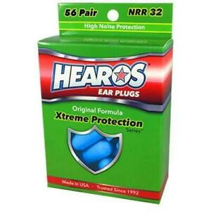 New Hearos Original Formulation Xtreme Protection Ear Plugs (NRR 32) (56 pairs)