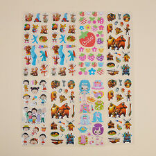 Kid 3D Cartoon Diary Sticker Adhesive Stickers DIY Wall Decorative Toy 10 Sheets