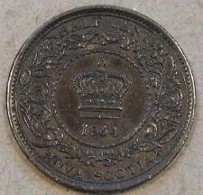 Nova Scotia 1864 Half Cent Borderline Bn Unc as Pictured