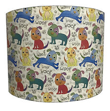 Woof Woof Dogs Lampshades Ideal To Match Children`s Dogs Duvets & Dogs Wallpaper