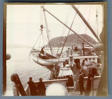 Norge, Ålesund, S.S. Blücher  Vintage citrate print. Vintage Norway. Vintage shi