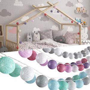 VICCO Lichterkette Cotton Balls Girlande in verschiedenen Farben verfügbar 310cm