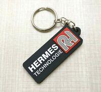 New Free Shipment HERMES TECHNOLOGIE Rubber Keychain Keyholder Keyring