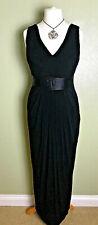 Coast Black Elegant Flattering Long Evening Ballroom Party Grecian Dress Size 12