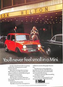 Original Vintage 1970s Car Advert  - 'Mini' -Country Life Magazine August 1974