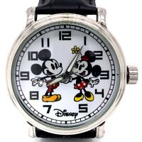 Disney EWatch Factory Mickey & Minnie Mouse Stainless Japan Movement Watch! 225