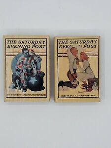 Vintage Rubber Stamps Saturday Evening Post #714 Letterman, #709 Clown...