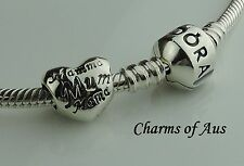 GENUINE Pandora bracelet with Mum in many languages charm. Mothers Day Special