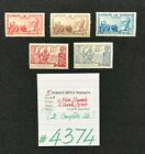 INDO-CHINA Stamps, 5 Mint stamps,1938-1939, SCV 2009= $5.45, #4374 or #4375