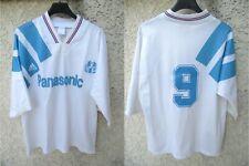 Maillot OLYMPIQUE de MARSEILLE OM 1992 PAPIN JPP N°9 ADIDAS shirt vintage trikot