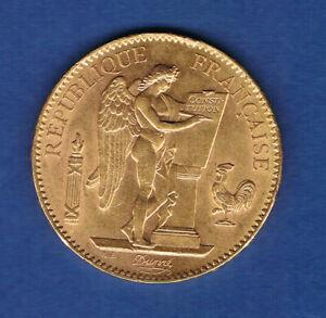 FRANCE.MONNAIE OR de 100 FRANCS GENIE de 1911 A SUP 900 ‰ E252.6