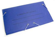 Carpeta de Letras Sobre Mensajería Carta Plegable Cartón 24x13cm Azul Resistente