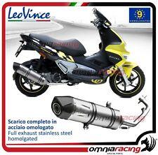 Leovince LV ONE scarico completo inox omologato Gilera Runner ST 200 2008>2014
