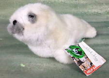 """WWF 10"""" White Baby Gray Seal Plush Pup Stuffed Realistic Science Classroom 1985"""