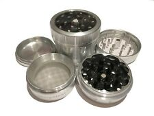 "Sharpstone 2.2"" Inch Version 2.0 Clear Top Herb Medium Silver Grinder 4pc Extras"