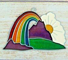 Vintage Suncatcher Rainbow, Mountains & Sunshine Window Decoration Ornament
