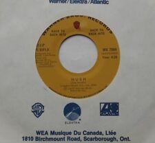 "DEEP PURPLE Hush / Kentuky woman Ex to NM- CANADA 1972 RE WB Back to Back 45 7"""