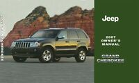 2007 Jeep Grand Cherokee Owners Manual User Guide Reference Operator Book OEM