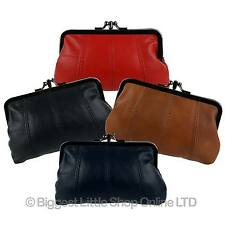 6c143a09cbe NEW Leather Ladies Clasp Coin Purse by OakRidge 4 Colours Zipped Section  Handy