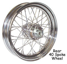 "New Chrome 16"" X 3"" 40 Spoke Rear Wheel Rim Harley Softail Dyna Sportster FXR"