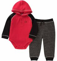 Calvin Klein Infant Boys Thermal 2pc Jogger Set Size 0/3M 3/6M 6/9M 12M 18M 24M