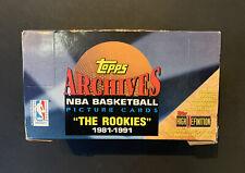 1992-93 NBA Topps Archives Jumbo Box The Rookies 20 Ct Packs Michael Jordan Rare