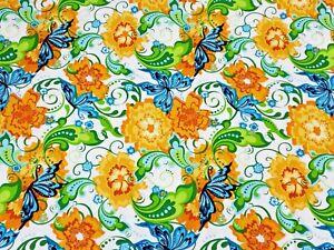 1/2 Yard RAPSODY #3807 Jane Spolar for Northcott- Butterflies Flowers-Cotton